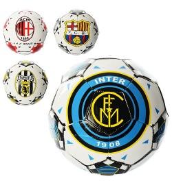 Мяч футбольный EV 3189 (60шт) EURO CLUB, размер 5, ПВХ, 4 вида, 300-320гр