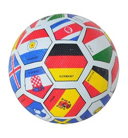 Мяч футбольный VA 0004 FLAG (50шт) резина, размер 5, Grain, 350г, в кульке