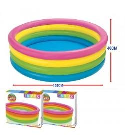 Бассейн 56441 (6шт) пылающий закат, 4 кольца, 617 л, 2,63 кг, 168-41см