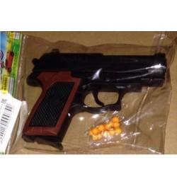 Пистолет 809 (600шт) на пульках, в кульке, 17-10см