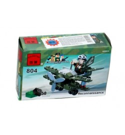 Конструктор BRICK 804 (200шт) самолёт-разведчик, 50 дет, в кор-ке, 14-9-4,5см