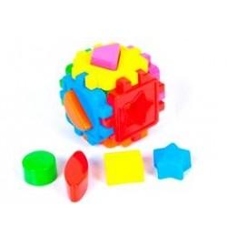 Логический куб-сортер, с геометрич. Фигурами (20шт/уп) головоломка-логика
