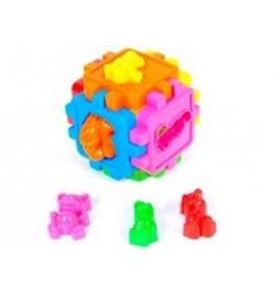 Логический куб-сортер, с животными (20шт/уп)