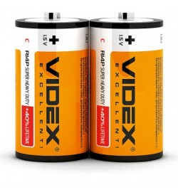 Батарейка солевая Videx R14P/C 2pcs SHRINK цена за 2 шт.