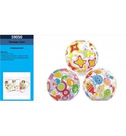 Мяч 59050 (36шт) 61см, винил, 2 вида, в кульке, 15-23,5-1см