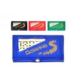 Домино M 0002 (100шт) карманное, в чехле, 5,7-18,5-38,3см