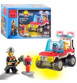 Конструктор BRICK 901 (150шт) Пожарная тревога, 62 дет, в кор-ке, 14-9,5-4,5см