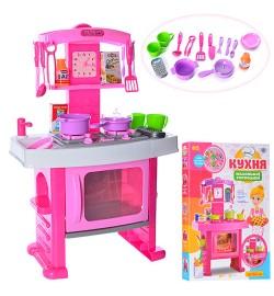 Кухня 661-51 (10шт) плита, духовка, посуда, часы, телефон, звук, свет, на бат-ке, в кор-ке,45-63-8с
