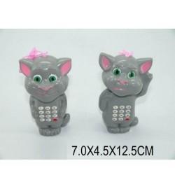 Моб.телефон 555-6B (1170673) (384шт/2) в виде кота Тома,батар., 6,5*5*13см