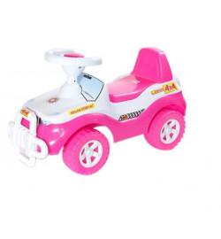 Машинка для катания ДЖИПИК ярко розовый, толокар 610x380x360 мм