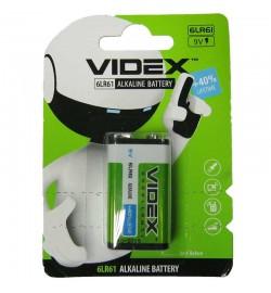 Батарейка лужна Videx 6L61 / 9V (Крона) 1pcs BLISTER ціна за 1шт