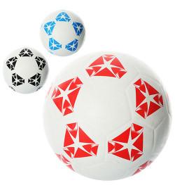 Мяч футбольный VA-0023 (30шт) размер 5, резина, гладкий, 350г, сетка, в кульке, 3 цвета,