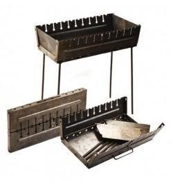 Мангал чемодан обычный (10 шампуров)