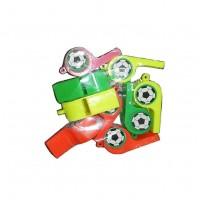 Свисток MS 1045 (1200шт) пластик, 4цвета, футбол, 5-2-1,5см