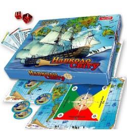 Вокруг света  Игры в гофрокоробке 0246 настольная игра