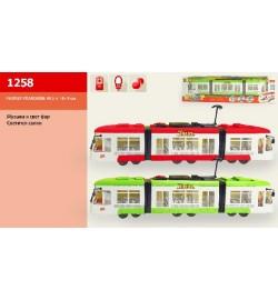 Трамвай 1258 (1011848) (36шт / 2) батар., В кор. 48,5 * 7,5 * 13,5 см