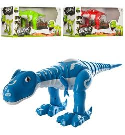 Динозавр  28301 (12шт) 40-17-15см, муз,звук,свет, танцует, 3 цвета, на бат-ке, в кор-ке,43-15-17,5см