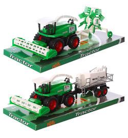 Трактор инерц 798-A83 (72шт/2 2 вида, под слюдой