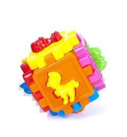 Конструктор Пазли - куб М головоломка-сортер 95х95х95 мм К-ВО В УПАКОВКЕ:63шт
