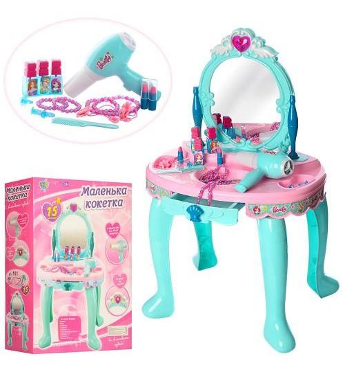 Туалетный столик 008-905 (6шт) батар,муз,фен,зеркало,аксесс,в кор. трюмо