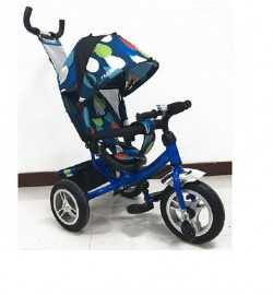 Велосипед M 3113-5A-D (1шт)три кол.резина (12/10),колясочн,своб.ход колеса,тормоз,подшипн,голуб