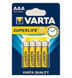 Батарейка VARTA SUPERLIFE R-06 AA BL 4 ZINC-CARBON (48шт) (240шт)  цена за 4шт