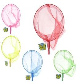 Сачок для бабочек M 0077 U/R (100шт) длина 70см, длина ручки 50см, диаметр 20см, бамбук, 5цветов,