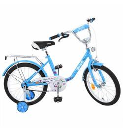 Велосипед детский PROF1 18д. L1884 (1шт) Flower, голубой,зеркало,звонок,доп.колеса