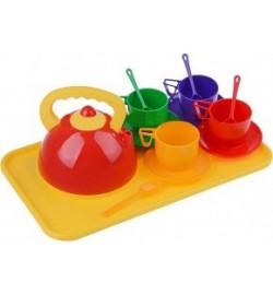 Набір посуду з чайником та підносом (14 пр.) 4820041670286 набор посуда