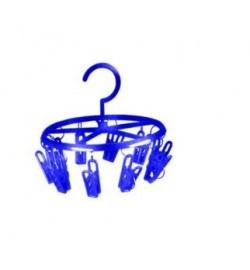 Вертушка пластик с прищепками маленькая ПП-ВМ (40шт) прищепки