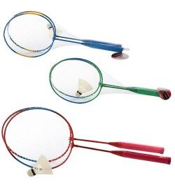 Бадминтон железный MS 0752 (50шт) ракетки 2шт, 56,5см, волан, 3 цвета, в сетке, 56,5-20,5-4,5см