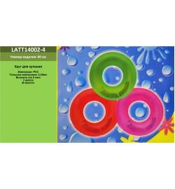 Надувной круг TT14002-4 (180шт) 3 цвета, 90см