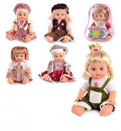 JT Кукла ОКСАНОЧКА 5139-5140-5055-5056 (36шт) 6 видов, муз(укр), 33см, в рюкзаке, 26-20-13см