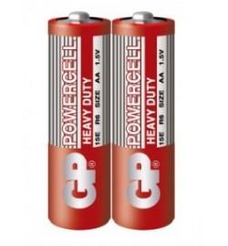 Батарейка GP 15Е-S2 Powercell R6, АА, трей 2/40 /, ціна за 2 шт. пальчик