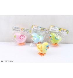 Заводные животные 16831C (1008шт/4)птенцы,4 цвета, в пакете 9*7*5см
