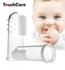 Зубная щеточка на палец с массажером для десен (силикон)