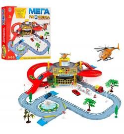 Гараж 922-9 (24шт) 2 этажа,машинка,вертолет, дорож.знаки,дерево2шт, в кор-ке,41-36-7см
