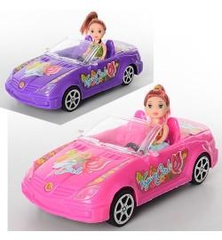Лялька 5577 (144шт) з машинкою (інер-я, 24см), 10см, 2 види, в кульках, 24-11-7,5см