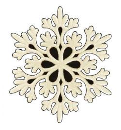 Снежинка 9.7см 2шт/уп J01149 (2500уп)
