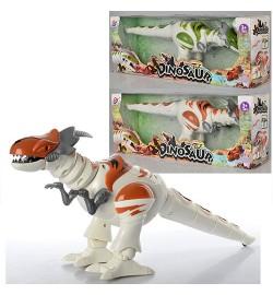 Динозавр TT329 (24шт) 39см, ходит, двиг.головой,звук, свет, 2цвета,на бат-ке,в кор-ке,42,5-16-11,5с