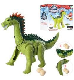 Динозавр 9789-64 (36шт) 34см, звук,свет,ходит,несет яйца, яйца 2шт,на бат-ке,в кор-ке, 18-16-10,5см