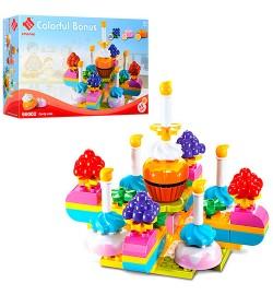 Конструктор 66002 (16шт) солодощі, торт, 65дет, в кор-ке, 45-30,5-10см