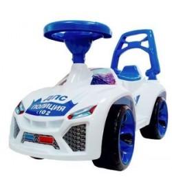 Машинка для катания Ламбо белый, толокар 700x280x450 мм толокар