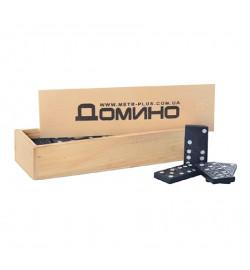 Домино M 0027 (300шт) в деревянной кор-ке, 14,5-5-3см