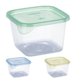 Контейнер пластиковый для пищевых продуктов 450мл квадратный PT-71655 (230шт)
