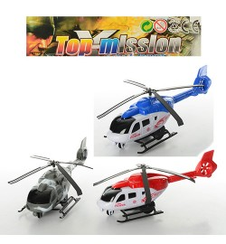 Вертолет-6-7(432шт) заводной, 25см, 2 вида, в кульке, 16-30-8,5см самолет