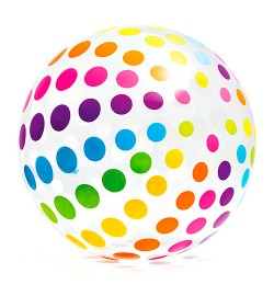М'яч 58097 (4шт) пляжний, ремкомплект, 5+, в кор-ке,
