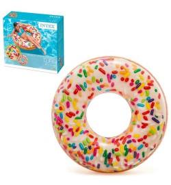 Круг 56263 (12шт) Пончик, 114см, ремкомплект, 9+, в кор-ке,