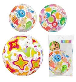 Мяч 59040 (36шт) разноцветный, 51см, 3 цвета, в кульке, 24-15,5см