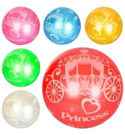 Мяч детский MS 1588 (120шт) 9 дюймов, карета, рисунок, 1вид, 6цветов, 60-65г